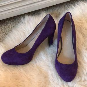 Purple suede pumps!